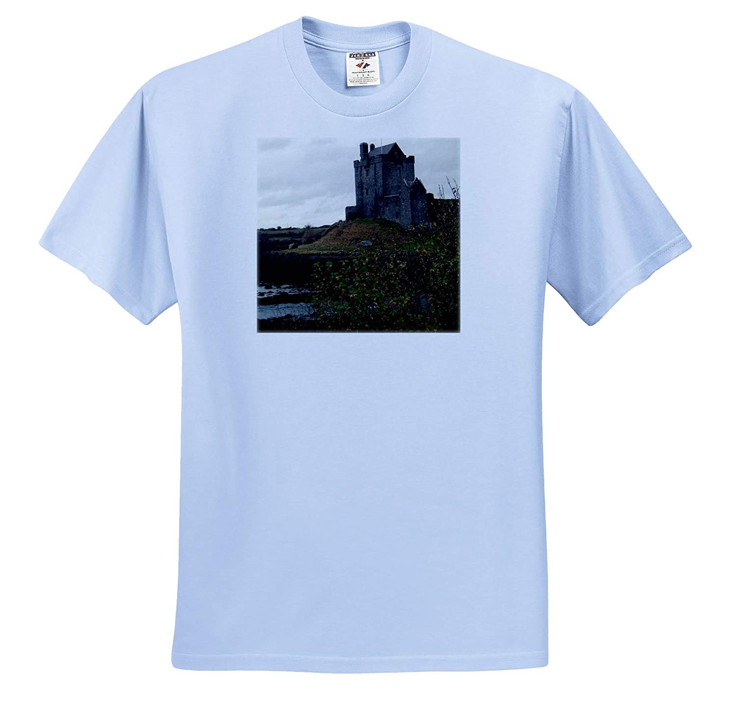 A Castle Off The Road in Scotland on a Hill T-Shirts 3dRose Jos Fauxtographee Castle Scotland