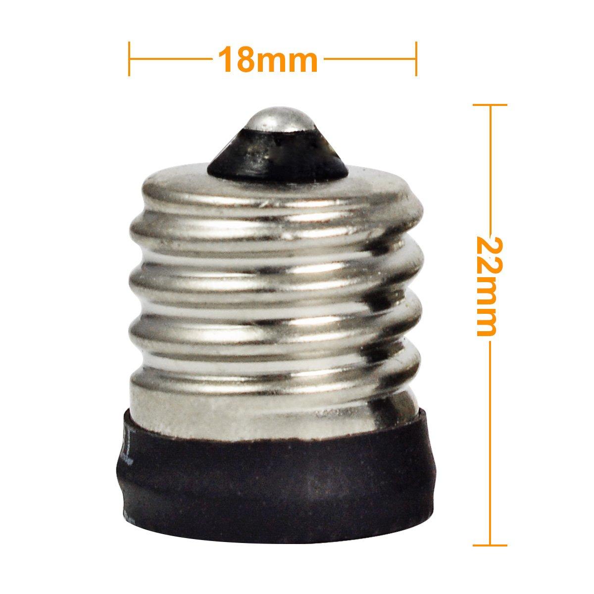 adaptateur rallonge 10Pcs MENGS/® E17 Pour E14 LED ampoule douille de lampe support