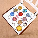 Custom Solar System Planets Funny Education Chart Seat Cushion Chair Cushion Floor Cushion Twin Sides 20x20 inches