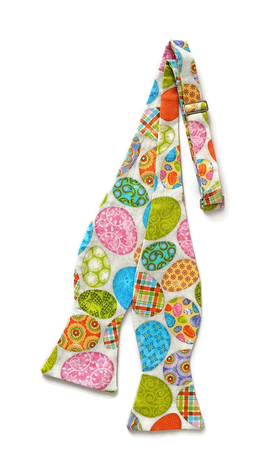 Mens Easter Egg Self-tie Bow Tie Colorful Holiday Design