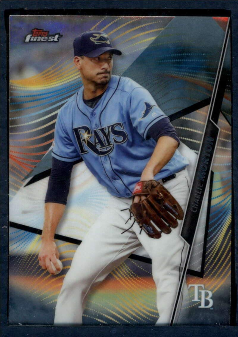 amazon com 2020 finest baseball 67 charlie morton tampa bay rays official mlb trading card made by topps collectibles fine art amazon com