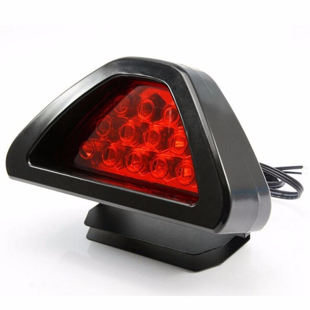 TONSEE Universal F1 Style 12 LED Red Rear Tail Third Brake Stop Safety Lamp Light Car TONSEE_A7552