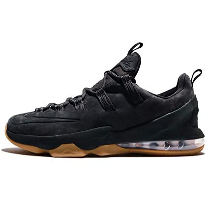 wholesale dealer 9b48b b2622 Image Unavailable. Image not available for. Color  Nike Lebron XIII Low PRM  13 Men s Black Basketball Shoes ...