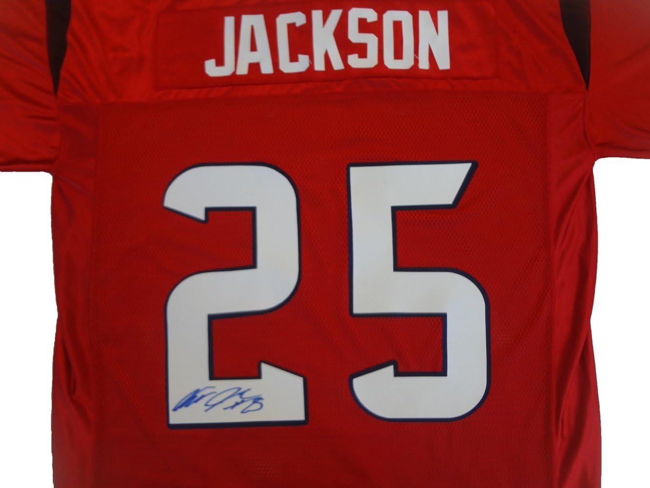 Amazon.com: Kareem Jackson Autographed Houston Texans Red Jersey W ...