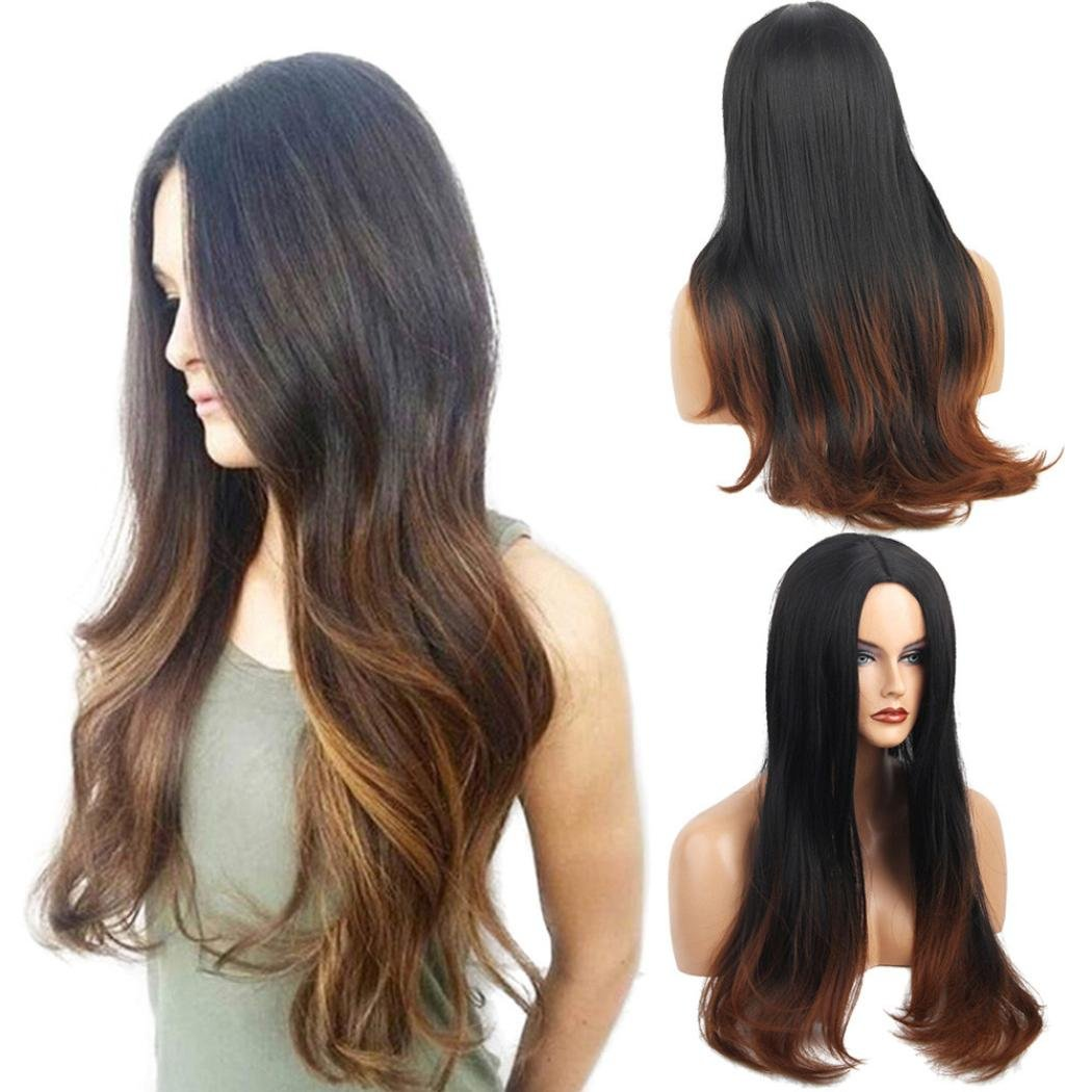 HOT SALE!!!Women Long Loose Straight Wig, Beautytop Front Wig Curly Full Natural Hair Wigs, High Quality Heat Resistant Fashion Natural Curl Wig For Women Cosplay Party Daily Use (D) Beauty Top