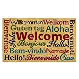 "Multi-Lingual Welcome Mat 30"" x 18"" x 0.5"