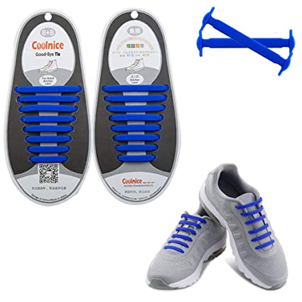 56e27e675 Dodoshares No Tie Shoelaces for Kids Adults,The Elastic Silicone No Tie  Shoelaces Waterproof Athletic Running Shoe Laces with Multicolor for  Sneaker Boots ...
