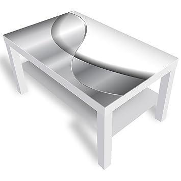 Dekoglas Ikea Lack Beistelltisch Couchtisch Abstraktion Sofatisch Mit Motiv Glasplatte Kaffee Tisch 90x55x45 Cm Weiss