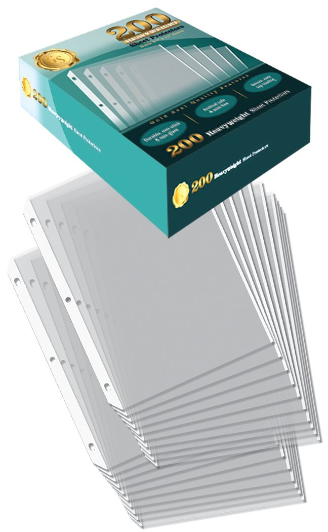 200/Box Clear Heavyweight Poly Sheet Protectors by Gold Seal, 8.5'' x 11''