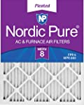 5. Nordic Pure 18x20x1 MERV 8 Pleated AC Furnace Air Filters, 18x20x1M8-6, 6 Pack