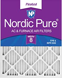 Nordic Pure 16x20x1 MERV 10 Pleated AC Furnace Air Filters 3 Piece