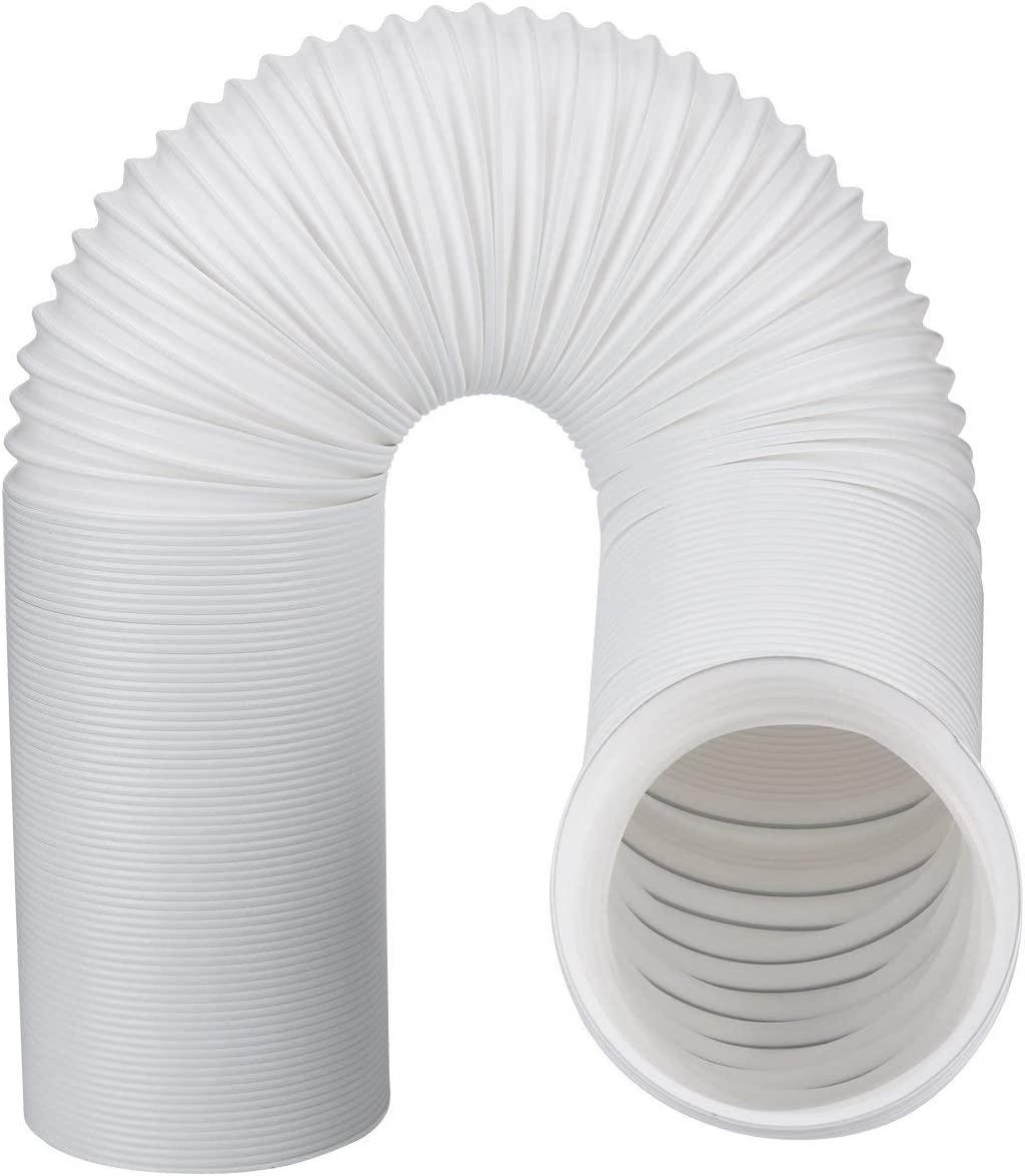 """Air Conditioner Exhaust Vent Hose For Portable AC Counter Clockwise 5 Inch Diameter Length 59 Inches. Fits Whynter, Honeywell, EdgeStar, LG, Delonghi and More. A/C 5"""" Wide and 59"""" Long AC hose."""