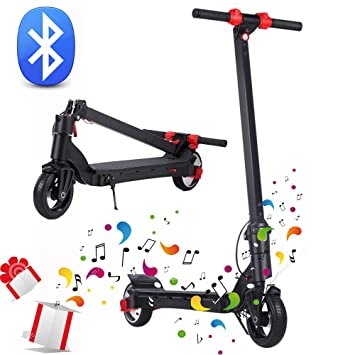 ertyu Patinete Electrico Adulto Bluetooth Estereo Scooter ...