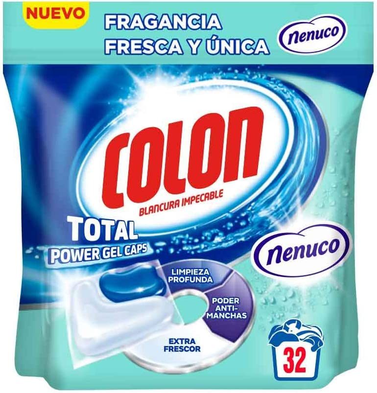 Colon Detergente Total Power Gel Caps Nenuco - 32 Dosis