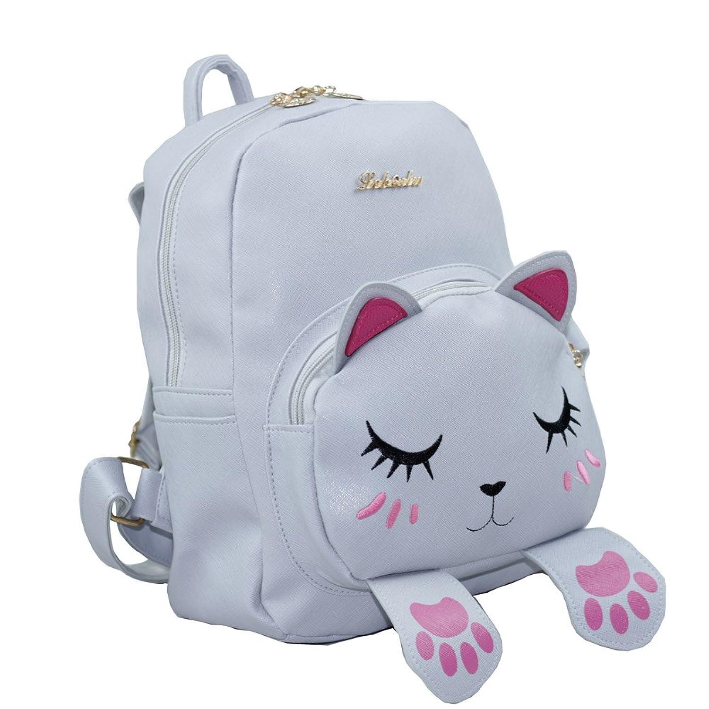 Amazon.com: Mini Backpack For Girls Cute Cat Design Fashion Leather ...
