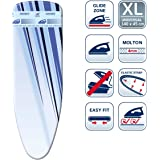 Leifheit L71610 Thermo Reflect Glide Universal Ironing Board Cover, 140cm x 45cm, Blue