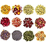 COYMOS Dried Flowers and Herbs 100% Natural Dry Flowers for Candle Making, Resin Jewelry, Bath Bombs - Contains Mint Leaves,