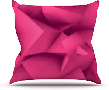 Kess InHouse Danny Ivan Purple Surface Outdoor Throw Pillow, 16 by 16-Inch