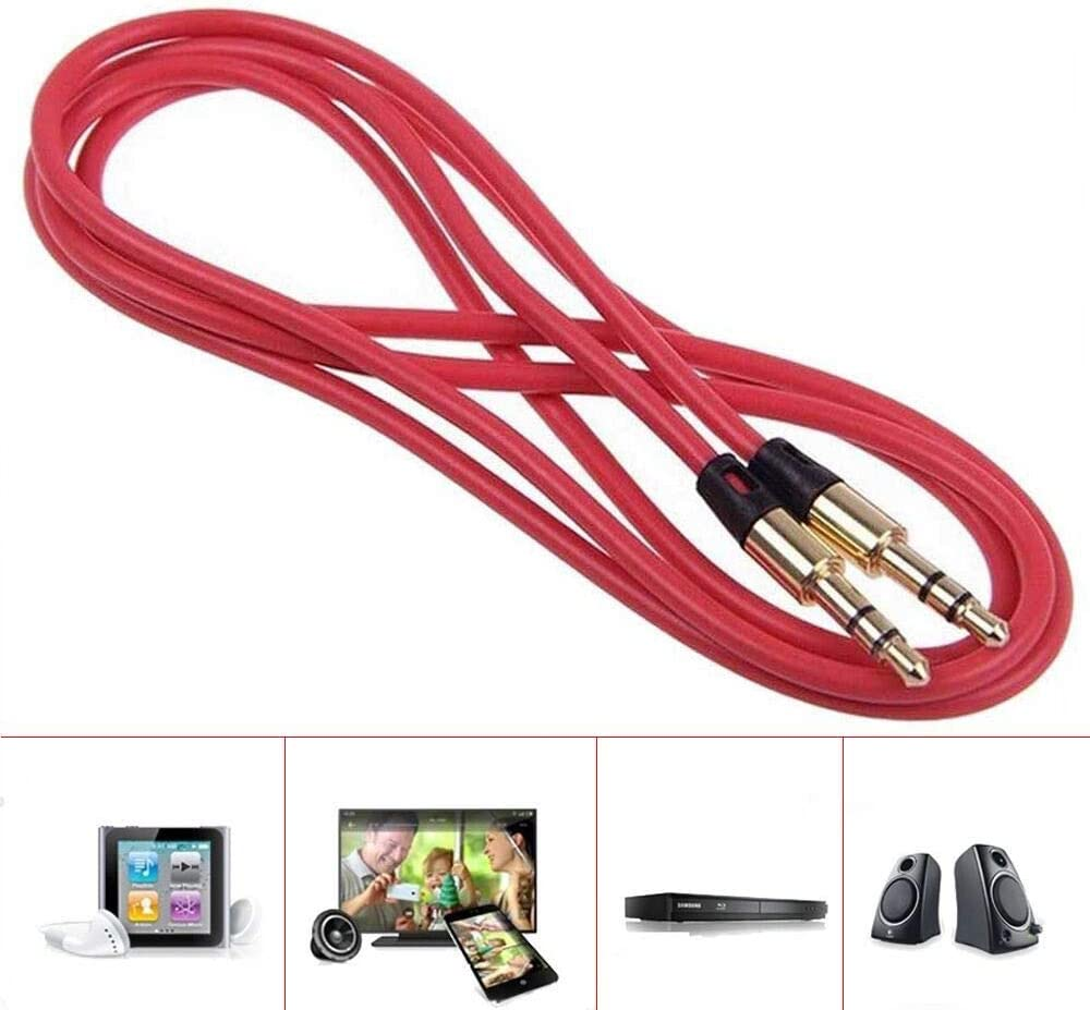 Chezaa 3.5mm Male to Male Car Aux Auxiliary Cord Stereo Audio Cable Compatible for Smart Phone,MP3 Players,Pad