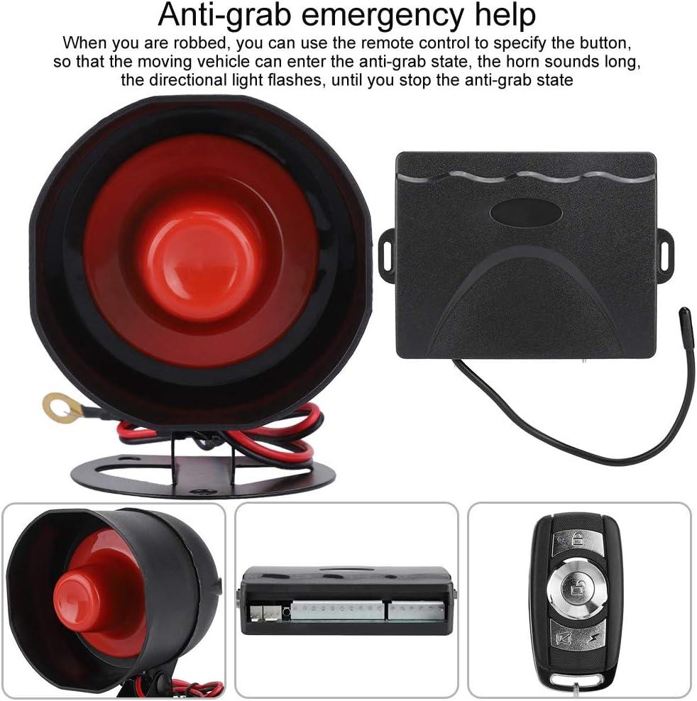 incluye alarma de alarma//rel/é de falla de alimentaci/ón Dos m/étodos antirrobo Alarma universal de coche Bloqueo de control remoto la llave de alarma antirrobo del veh/ículo 2#