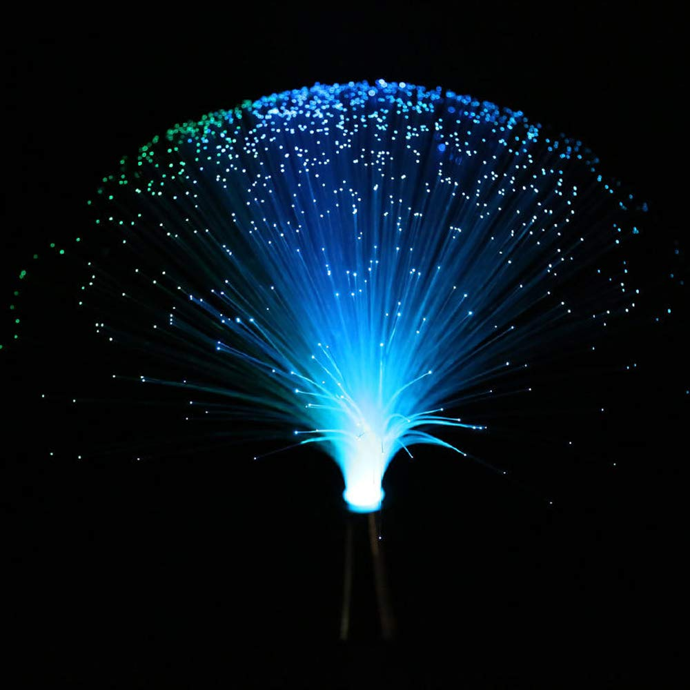 LED Multicolor Changing Fiber Light Colourful Changing Fibre Optic Fountain Party Light Nightlight Lamp Calming Lamp Christmas Gift Rich Boxer
