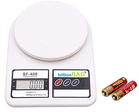 0c8aa209c Buy billionBAG Electronic Kitchen Digital Weighing Scale (10 Kg) - White  Online at Low Prices in India - Amazon.in