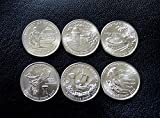 2009 -P -- U.S. Territory Quarters -- Complete Set of 6 -- UNCIRCULATED