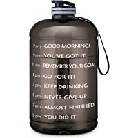 FRETREE Gallon Water Bottle Portable Water Jug - Fitness Sports Daily Water Bottle with Motivational Time Marker, Leak-Proof Gym Bottle for Outdoor Camping