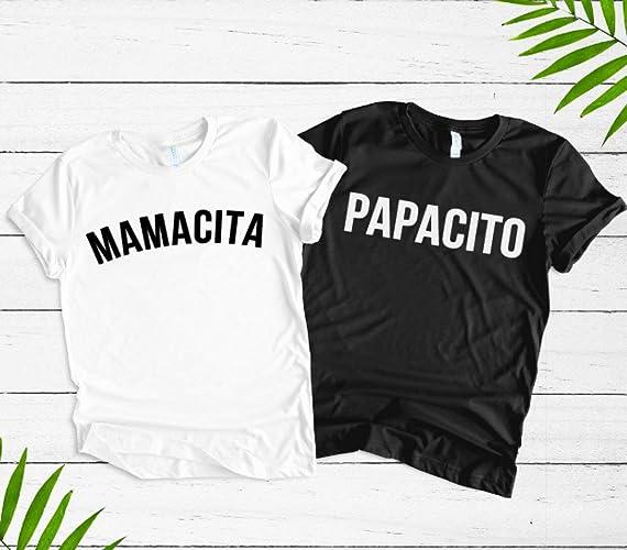 Amazon Com Couples Pregnancy Announcement Shirts Mamacita Papacito