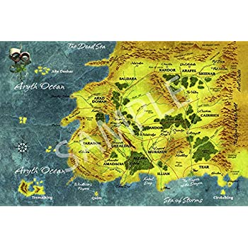 Amazon.com: Best Print Store - Wheel of Time, Map of Randland Poster ...