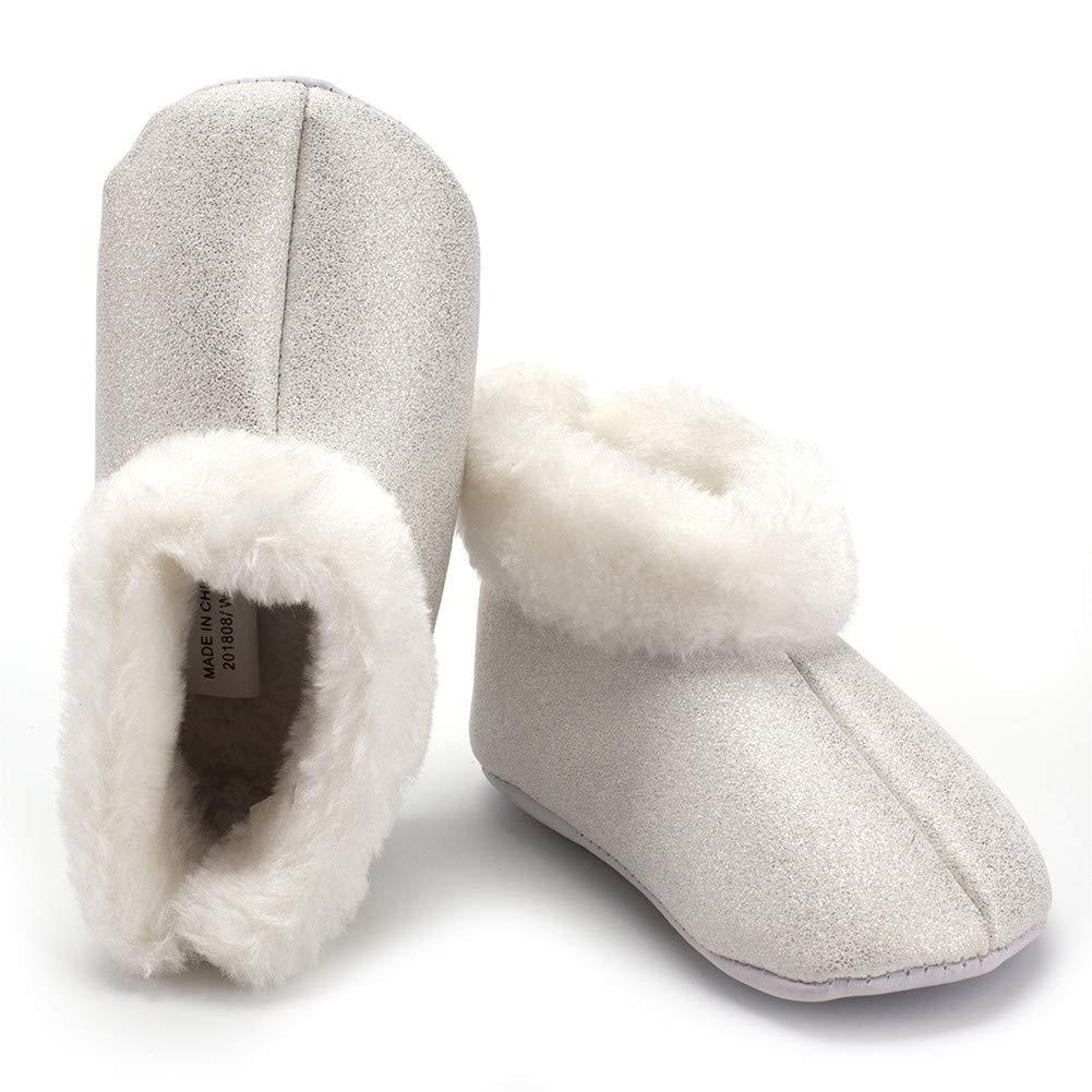 Zapatos de Bebe Pelusa Primeros Pasos, Morbuy Flash mate PU Niño y Niña Recién Nacido Cuna Suela Blanda Antideslizante Zapatillas (12.5cm / 6-9meses): ...