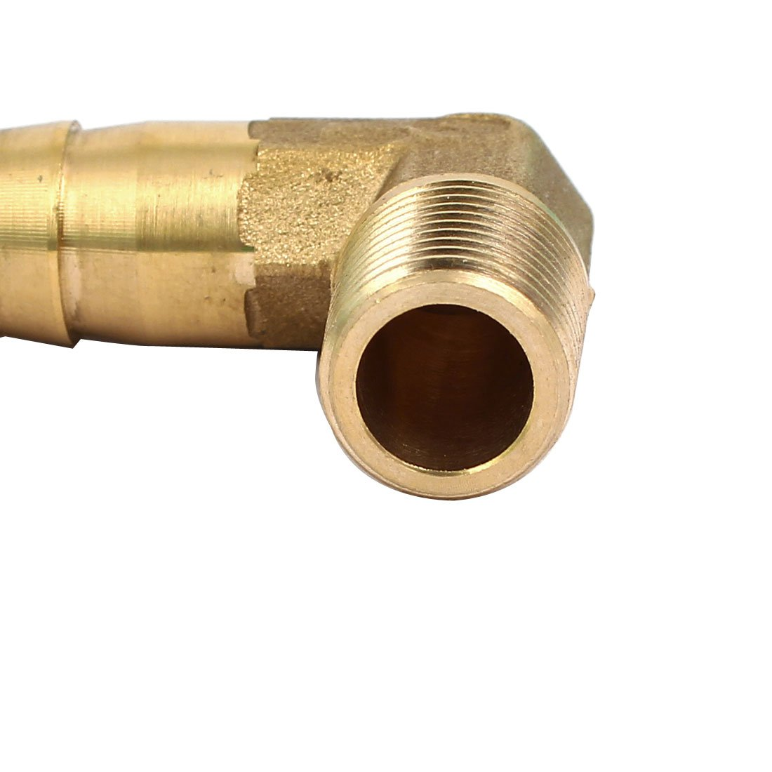 uxcell 1//4BSP Male Thread 12mm Hose Barb Fitting Right Angle Elbow Coupler Connector