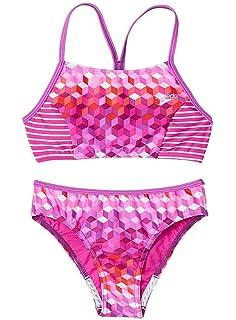 d7e02c98a3 Amazon.com  Speedo Girl s Leopard Love Bikini 2 Piece Swimsuit Blush ...