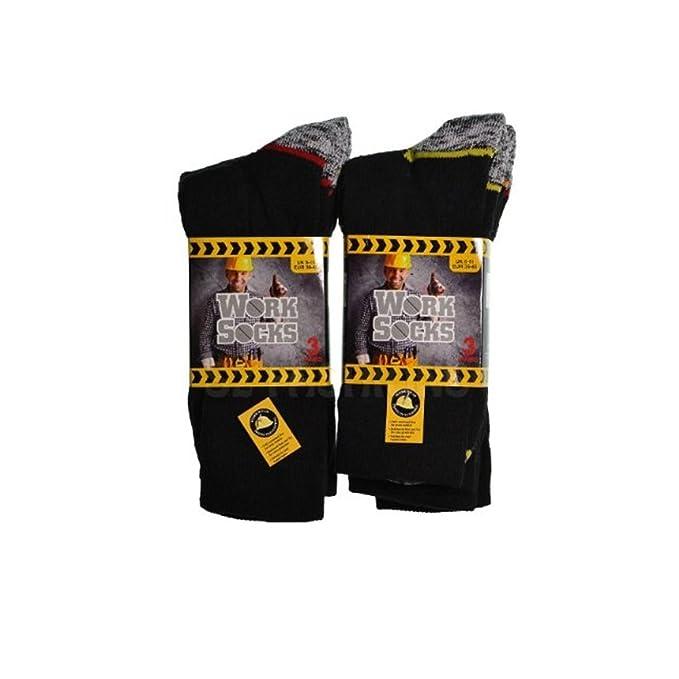 6 x para hombre resistente calor y comodidad calcetines de trabajo mezcla de lana – Excelente