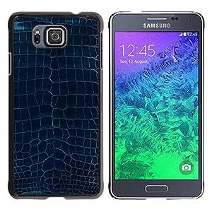 KOKO CASE / Samsung GALAXY ALPHA G850 / modelo de la turquesa arte azul diseño de textura / Delgado Negro Plástico caso cubierta Shell Armor Funda Case Cover