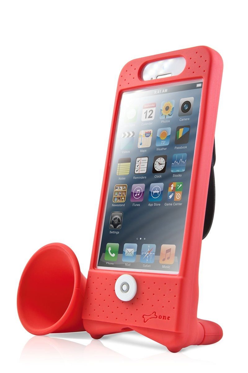 Bone Collection Bike Horn Stand Speakers For Iphone 5 Retail Packaging Red Amazon In Electronics