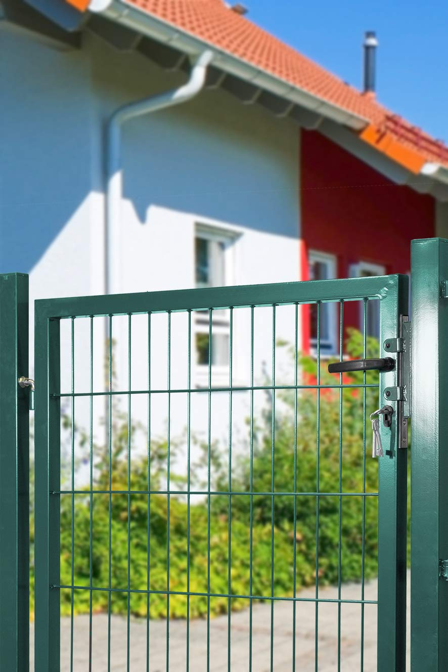 Arvotec Gartentor inkl Pfosten inkl BxH:1200x1600mm passenden Anschlussst/ücken f/ür Stabmattenzaun Montagematerial und Schl/üsseln 200x50 gr/ün