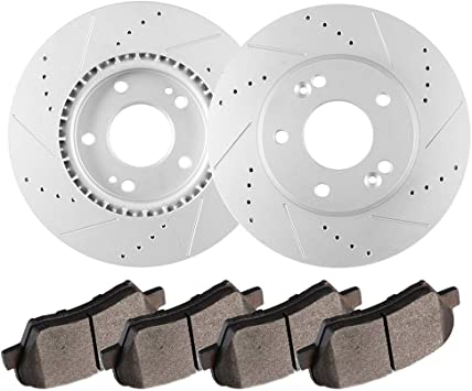 2014 2015 2016 for Kia Forte5 EX Disc Brake Rotors and Ceramic Pads Front