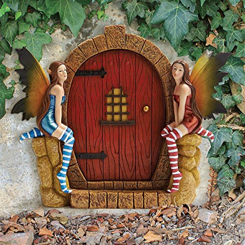 Design Toscano The Enchanted Portal Fairy Door Wall Sculpture