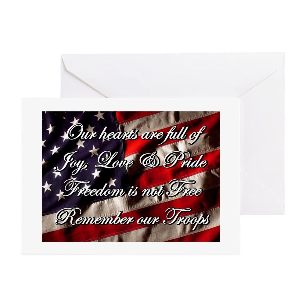 Amazon.com : CafePress - Remember The Troops Freedom Greeting Cards ...