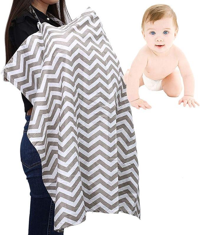 Stronghigheu cubierta de lactancia materna, bufanda de lactancia infinita, algodón transpirable, delantal multiuso con correa ajustable y bolsillos de ...