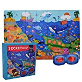 Kids Jigsaw Puzzle Educational Toys - Happytime MD3011 Secret Ocean Cardboard Big Pieces Puzzles (35 Pieces) for 3+ Years Old Kids Children Toddlers