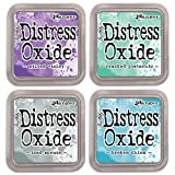 NEW Ranger Tim Holtz Distress Oxide 4 Ink Pads: WILTED + ICED + CRACKED + BROKEN