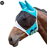 Horse Fly Mask Comfortable Breathable Horse Face Cover Horse Mask with Ears for Protect The Important Places from Mosquitoes, Flying Insects, Insects