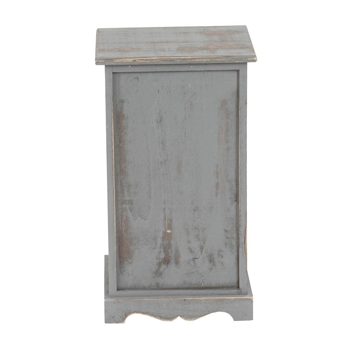 Shabby-Look Beistelltisch Nachttisch Telefontisch 63x35x29cm Vintage weiß
