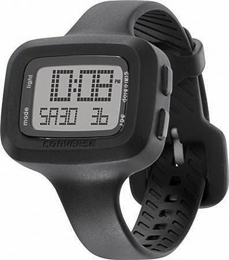 Converse Understatement - Reloj digital de mujer de cuarzo con correa de silicona negra (alarma, cronómetro) - sumergible a 30 metros: Converse: Amazon.es: ...