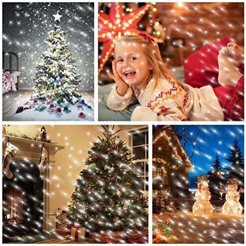 Schneefall Dekoratives Licht,SUAVER Wasserdicht LED Projektion lampe mit Fernbedienung Weihnachtsbeleuchtung Schneeflocke Dekoration Beleuchtung für Garten Weihnachten Party Hochzeit Innen Außen