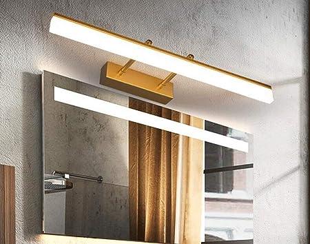MTX Ltd Lámpara de Espejo Dorado Baño de baño Espejo de baño Cuarto de baño Lámpara de Espejo Sencillo Moderno a Prueba de Agua antivaho Lámpara retráctil de Espejo retráctil,Oro-40cm: Amazon.es: Hogar