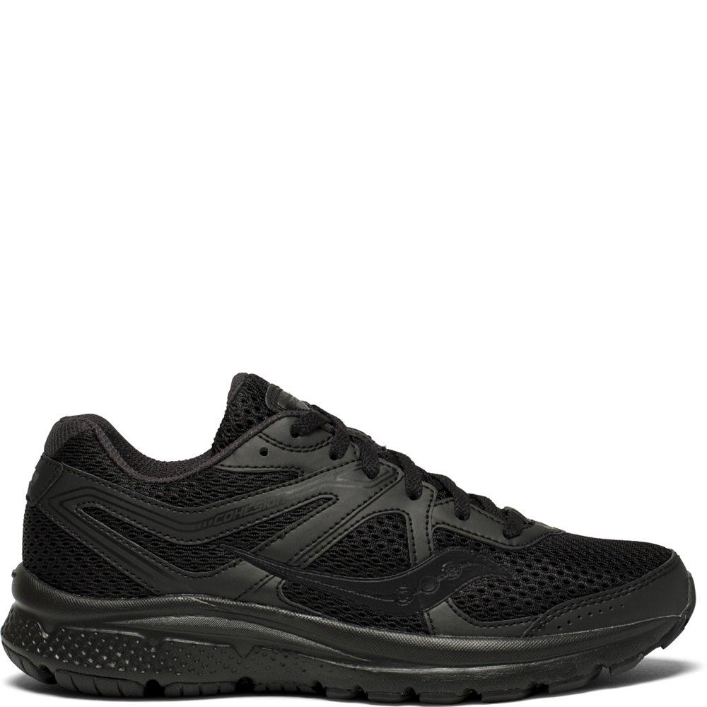 Saucony Women's Cohesion 11 Running Shoe, Black, 9.5 Medium US