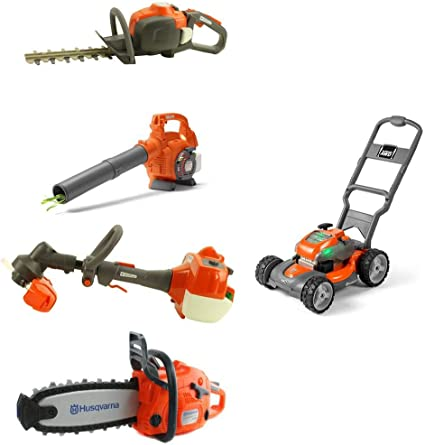 Toddlers Pretend Play Yardwork Lawn Equipment Weeds Wacker Plastic Trimmer Toy for Boys Garden Tool Kids Size Power Construction Yard Toy Pack Tool Big Play Realistic Lawn Weedeater with Sound